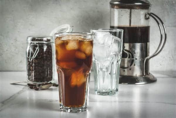 cold brew coffee with french press