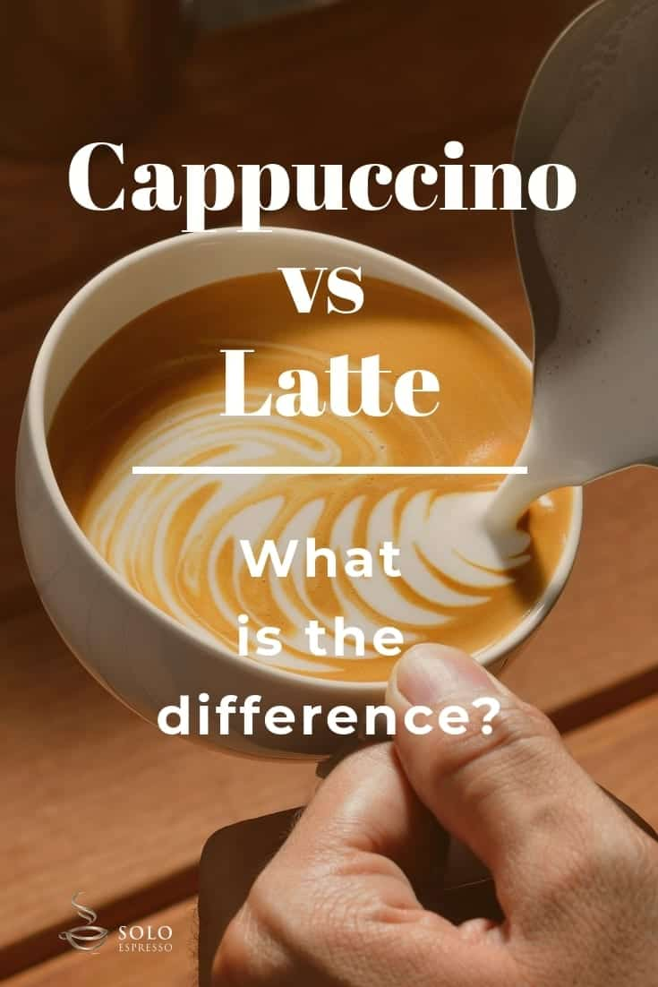 A cappuccino is a 5 ounce beverage made up of a single shot espresso, steamed milk, and with at least 1 centimetre milk foam. While a Latte is an 8 ounce beverage with 1 - 2 shots of espresso, two thirds steamed milk, topped with very little foam.The main difference between cappuccino vs latte lies on the volume of the foamed milk or froth and steamed milk.