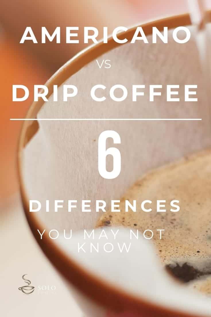 Americano coffee is a coffee beverage that you get when you dilute an espresso with hot water. Drip coffee, on the other hand, is a bit different. It is prepared by pouring water over onto ground coffee beans and allowing it to brew.  Here are the main differences between Americano coffee and drip coffee that make them unique coffee brews.