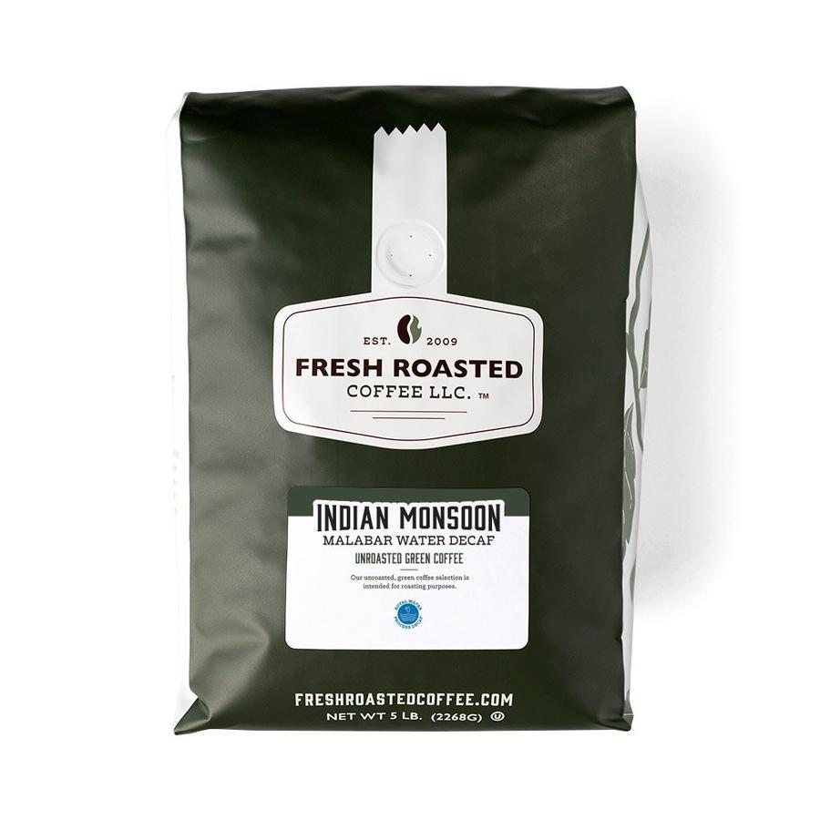 Decaf Indian Monsoon Malabar Unroasted Coffee Beans